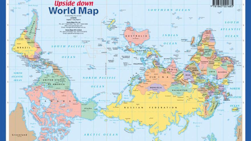 El Mapamundi Que Sitúa Australia En El Centro Del Planeta