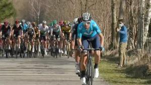Alejandro Valverde, al ataque, en Vallter 2.000.