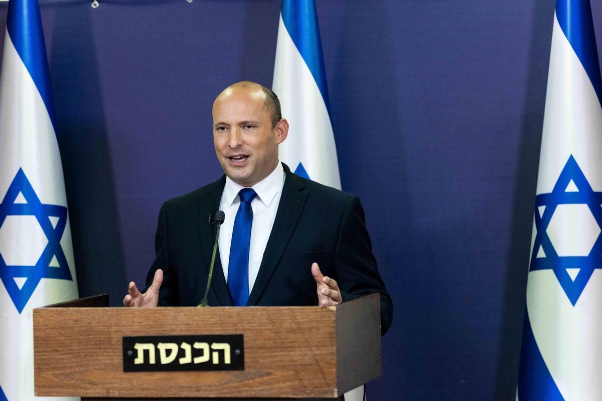 El líder del partido Yamina, Naftali Bennett, en el Parlamento israelí el pasado 30 de mayo.