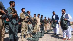 Fuerzas del Ejército afgano en Herat en plena ofensiva talibán.