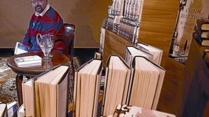 L'escriptor Carlos Ruiz Zafón, ahir durant la presentació de la seva novel·la a la capella dels Àngels.