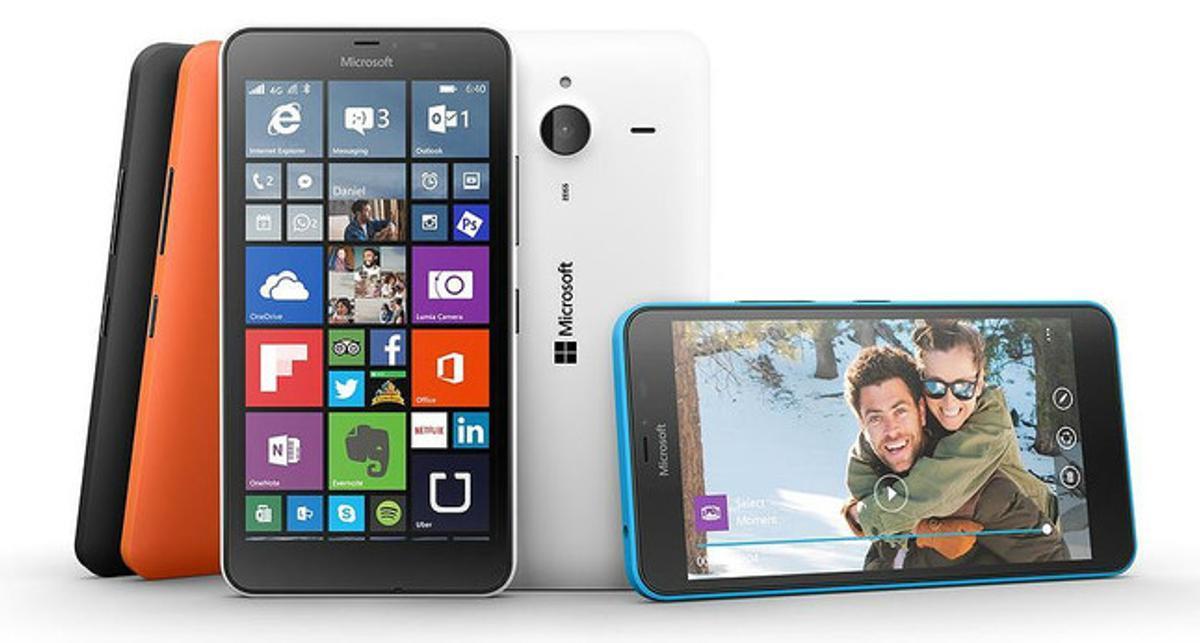 El Lumia 640 de Microsoft.