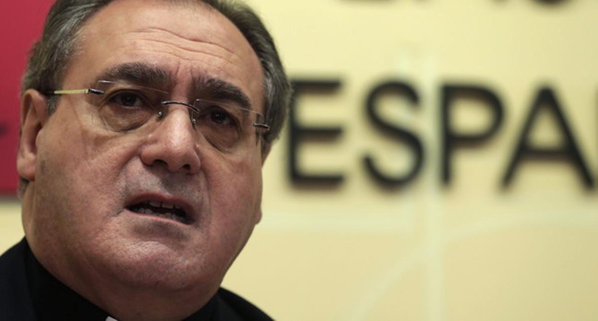 El portavoz de la Conferencia Episcopal Española (CEE), José María Gil Tamayo.