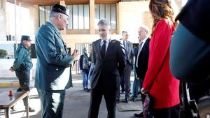 Marlaska visita el perímetro fronterizo de Melilla.