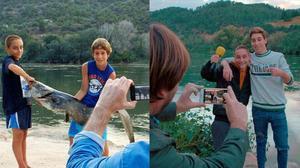George y Èric, los niños de Benifallet, del programa 'El foraster', hace cinco años y actualmente.