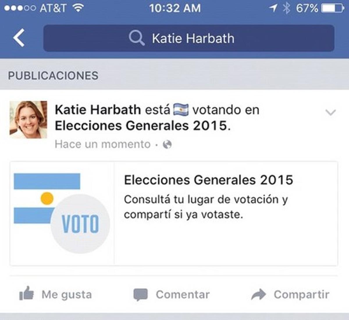 Las elecciones argentinas fueron escenario de la consolidación del botón 'Ya voté' en Facebook