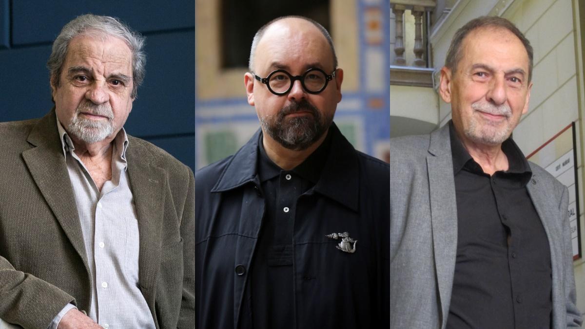 Juan Marsé, Carlos Ruiz Zafón y Josep Maria Benet i Jornet.