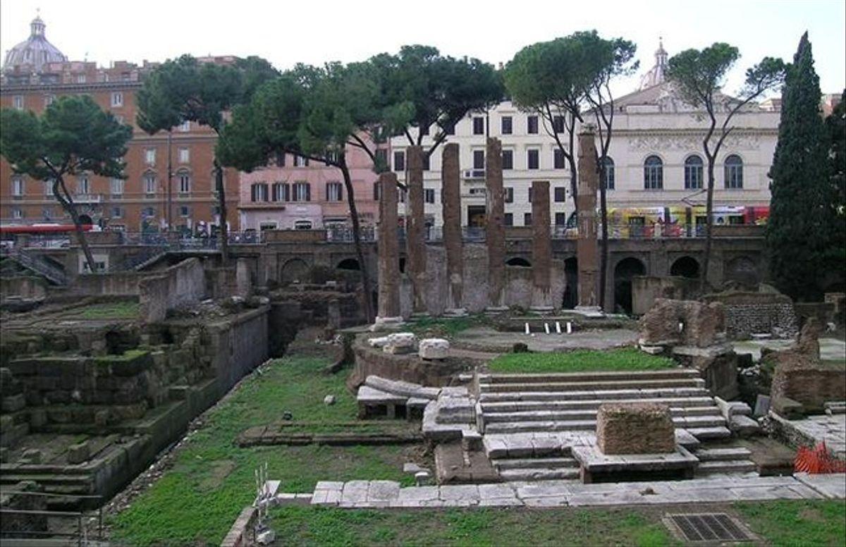Lugar donde fue asesinado Julio Cësar, en el Coliseo romano.