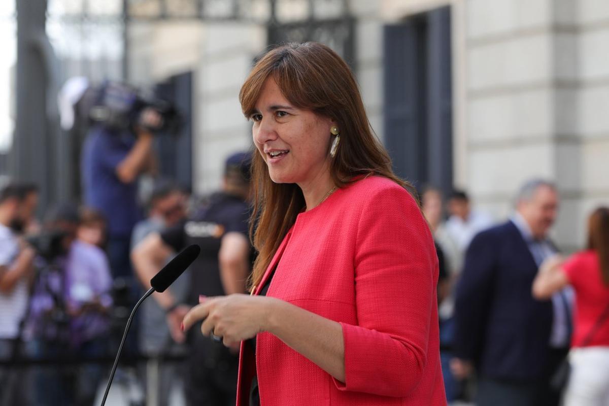 Laura Borrás, portavoz de Junts per Catalunya.
