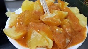 Las patatas bravas de Bodega La Ardosa de Santa Engracia.