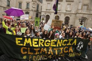 Manifestación juvenil contra el cambio climático, en 2019 en Barcelona