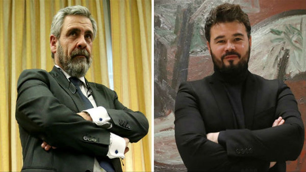 Rufián a De Alfonso: 'Hasta pronto gánster, nos vemos en el infierno'.