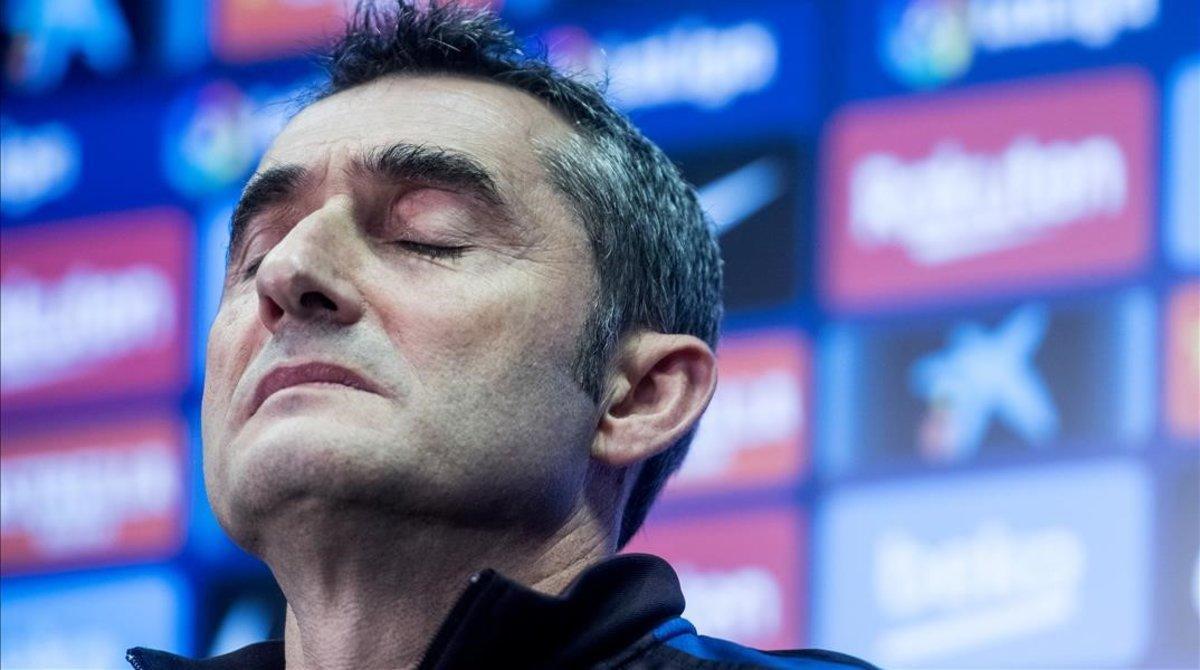 Ernesto Valverde solo piensa en el siguiente partido, pasando de especulaciones