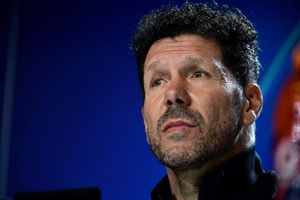 El entrenador del Atlético Diego Simeone este lunes en rueda de prensa antes de recibir al Liverpool.