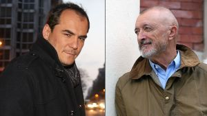 Ismael Serrano y Arturo Pérez Reverte.