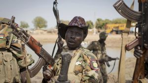 South Sudanese government soldier chants in celebration after government forces on Friday retook from rebel forces the provincial capital of Bentiu  in Unity State  South Sudan  South Sudan s civil war has caused nearly 400 000  excess deaths  since fighting erupted in late 2013  a new report by the London School of Hygiene and Tropical Medicine  AP Photo Mackenzie Knowles-Coursin  File
