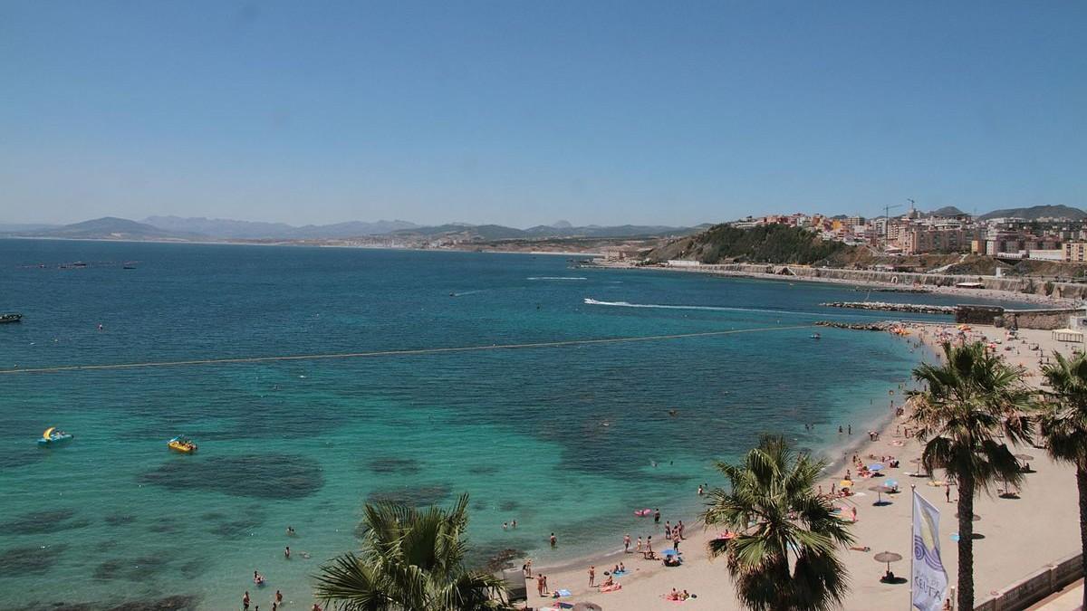 Playa de la Ribera de Ceuta.