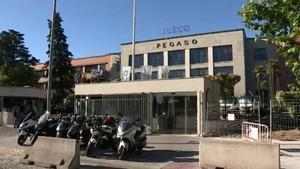 Imagenes del exterior de la fábrica de Iveco en Madrid.