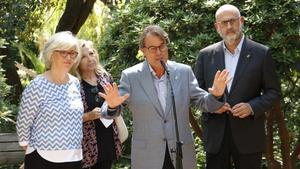 El TSJC dona per liquidades les condemnes de Mas, Ortega i Rigau pel 9-N