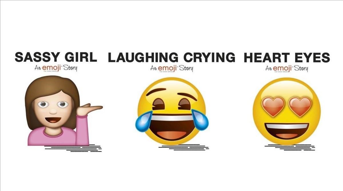 Tres de los primeros títulos protagonizados por emojis.