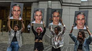 Protesta contra Jeffrey Epstein, el pasado julio en Nueva York.