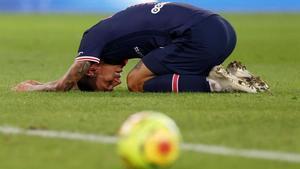 Angel Di María se lamenta en un partido de la Ligue 1 /Reuters