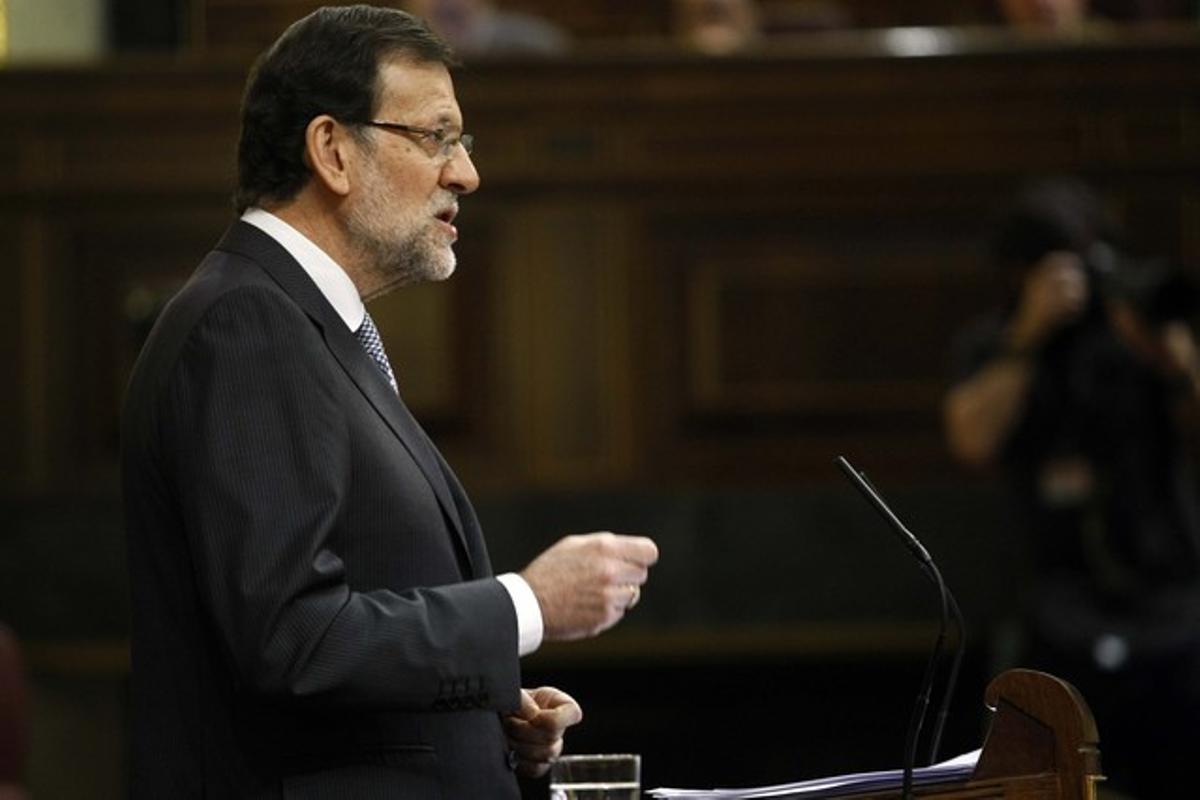 Rajoy, durante el debate sobre el estado de la nación.