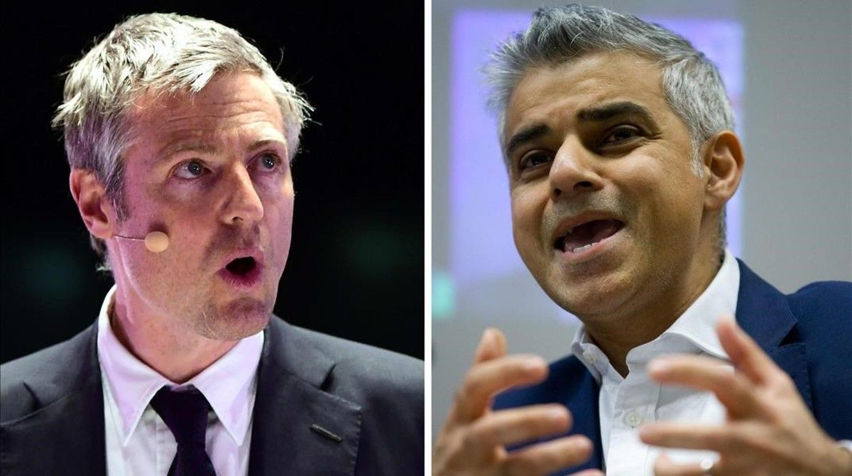 El laborista Sadiq Khan, a la derecha de la imagen, favorito en la encuestas, y el conservador Zac Goldsmith, a la izquierda.