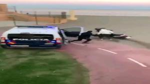 La Policía Nacional detiene a dos hombres tras una persecución en Málaga.