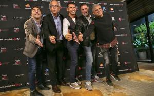 De izquierda a derecha, Jordi Roca, Bonaventura Clotet, Jesús Vázquez, Toni Cruz y Nandu Jubany.