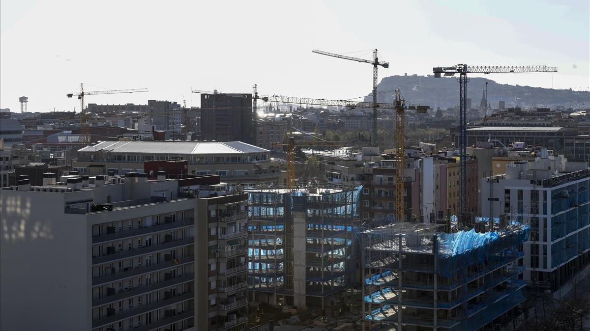 Una promoción inmobiliaria en el Poblenou de Barcelona.