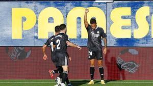 Mariano celebra su gol del fin de semana ante el Villarreal.