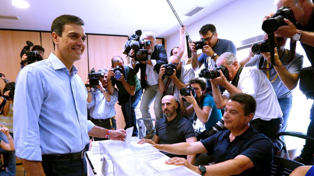 """Pedro Sánchez anima a votar para que el gobierno tenga """"la máxima legitimidad"""""""