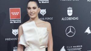 Celia Freijeiro, en la alfombra roja de los Feroz 2020.
