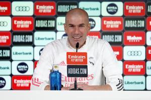 El técnico del Real Madrid, Zinedine Zidane, en rueda de prensa.