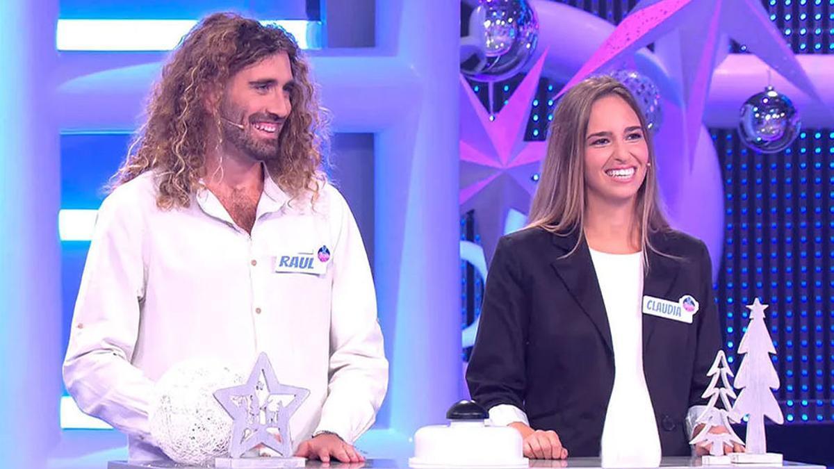 Raúl y Claudia en 'El concurso del año'