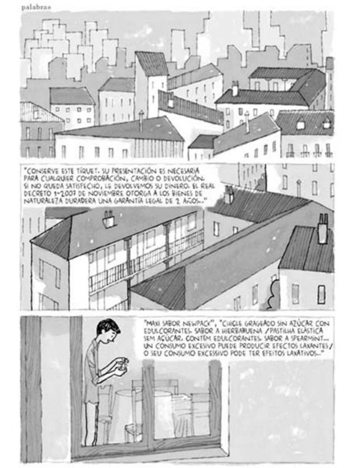 Página de Juan Berrio, en el número 1 de la revista de cómic 'La resistencia'.