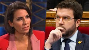 Pere Aragonés y Ana Pastor.