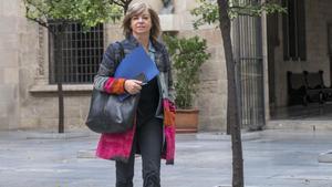 La 'consellera' de Governació, Meritxell Borràs, en el Palau de la Generalitat.