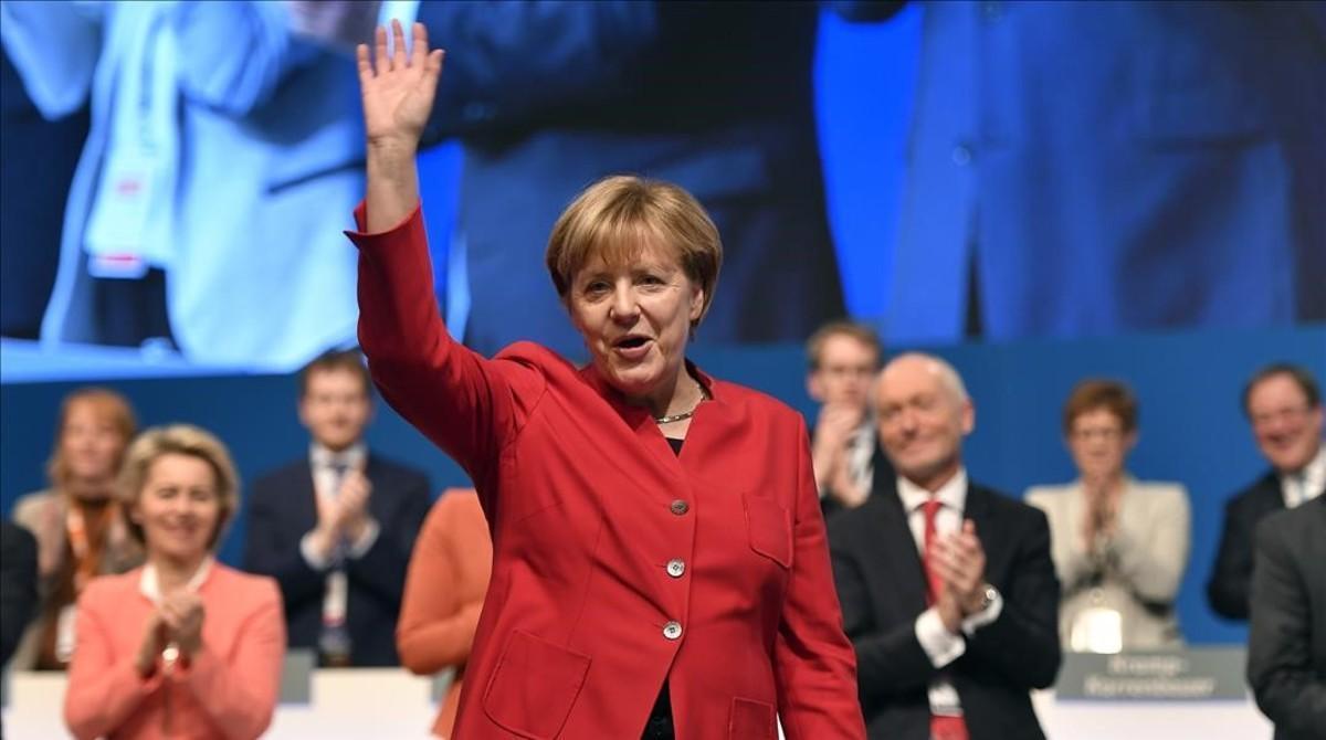 Angela Merkel, en el congreso de la CDU.