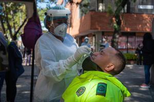 Pruebas de coronavirus en Bogotá.