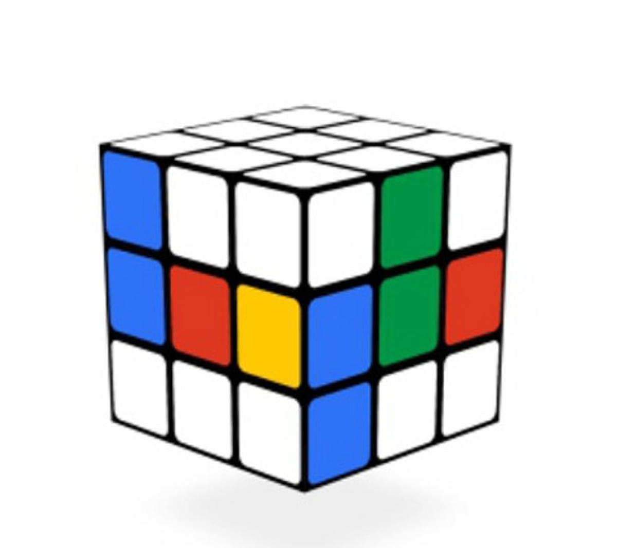 Imagen del cubo de rubik , en Google.
