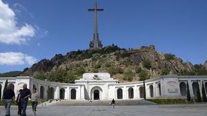 Vista exterior de la basílica del Valle de los Caídos, cerca de Madrid.