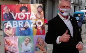 El diputado de Cs por Girona Jean M. Castel, en un acto de campaña de las elecciones catalanas del 14F.