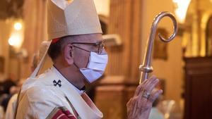 El cardenal Omella, en un momento de la misa de la Mercè