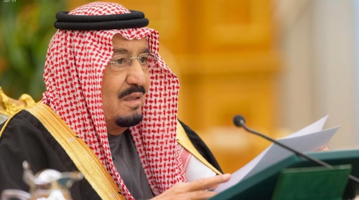 El rey Salmán, durante la presentación del presupuesto saudí para el 2017, en Riad, el 22 de diciembre.