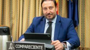 Jesús Cubero, secretario general de la patronal de geriátricos AESTE, durante una comparecencia en el Congreso de los Diputados.