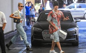 Justin Bieber y Hailey Baldwin, el pasado 29 de agosto en Los Ángeles.