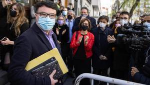 El diputado de ERC, Joan Josep Nuet Pujals, a su llegada al Tribunal Supremo en Madrid.