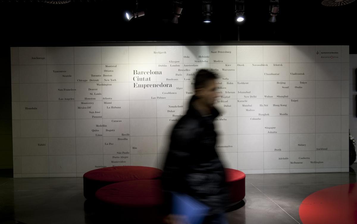 Recibidor del vivero de start-ups de Barcelona Activa.